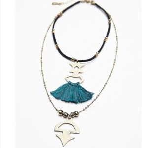Free People tassel layered necklace